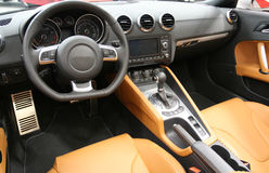 Interiore dell'automobile sportiva Immagine Stock Libera da Diritti