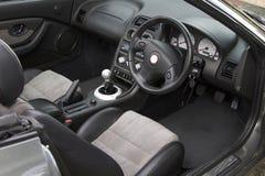 Interiore dell'automobile sportiva Fotografie Stock Libere da Diritti