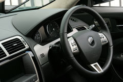 Interiore dell'automobile sportiva immagine stock