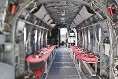 Interiore dell'elicottero del cavaliere del mare H-46 immagini stock
