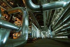 Interiore dell'impianto di per il trattamento dell'acqua Immagini Stock