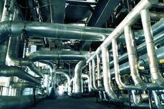 Interiore dell'impianto di per il trattamento dell'acqua Immagine Stock