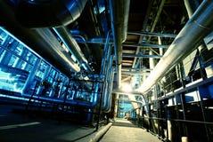 Interiore dell'impianto di per il trattamento dell'acqua Fotografie Stock