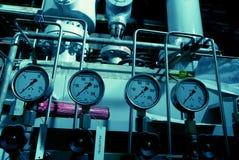 Interiore dell'impianto di per il trattamento dell'acqua Fotografie Stock Libere da Diritti
