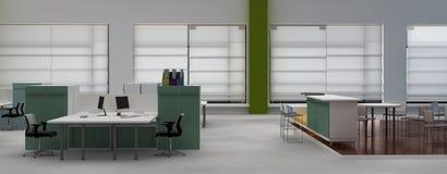 Interiore dell'ufficio dello spazio all'aperto Immagine Stock Libera da Diritti