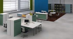 Interiore dell'ufficio dello spazio all'aperto Fotografia Stock Libera da Diritti