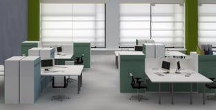 Interiore dell'ufficio dello spazio all'aperto Fotografie Stock Libere da Diritti