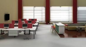 Interiore dell'ufficio dello spazio all'aperto Immagini Stock Libere da Diritti