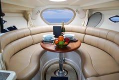 Interiore dell'yacht Fotografia Stock Libera da Diritti