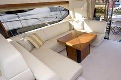 Interiore dell'yacht Immagini Stock