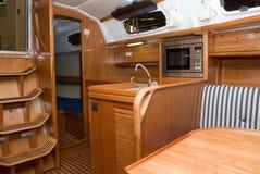 Interiore della barca immagine stock