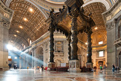 Interiore della basilica della st Peter Fotografia Stock