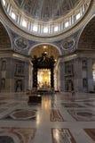 Interiore della basilica della st Peters Immagine Stock Libera da Diritti
