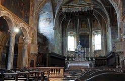 Interiore della basilica della st Pietro. Perugia. L'Umbria. Immagine Stock Libera da Diritti