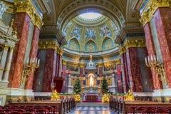 Interiore della basilica dello Stephen del san, Budapest, Ungheria Fotografia Stock