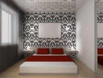 interiore della camera da letto Fotografie Stock Libere da Diritti