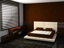 interiore della camera da letto Immagini Stock Libere da Diritti