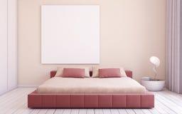 Interiore della camera da letto 3d rendono Immagine Stock