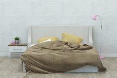 Interiore della camera da letto rappresentazione 3d Fotografie Stock