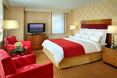 Interiore della camera di albergo Fotografia Stock Libera da Diritti