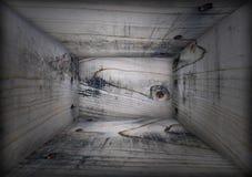 Interiore della casella di legno di Grunge Fotografia Stock Libera da Diritti