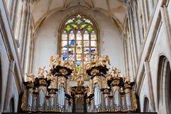 Interiore della cattedrale Fotografia Stock