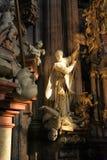 Interiore della cattedrale della st Nicolas Fotografie Stock