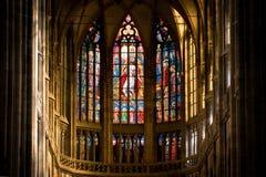 Interiore della cattedrale della st Vitus Immagine Stock