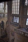 Interiore della cattedrale della st Vitus Immagini Stock