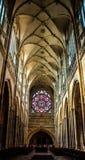 Interiore della cattedrale della st Vitus Fotografia Stock Libera da Diritti