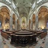 Interiore della cattedrale della st Vitus a Praga Fotografia Stock