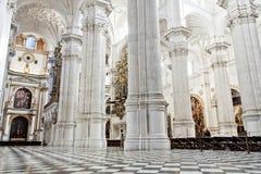Interiore della cattedrale di Granada Immagini Stock Libere da Diritti