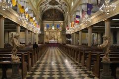 Interiore della cattedrale di St. Louis Immagini Stock Libere da Diritti