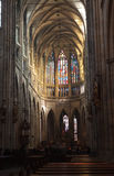 Interiore della cattedrale di Vitus del san Fotografia Stock Libera da Diritti