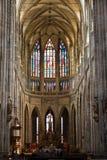 Interiore della cattedrale di Vitus del san Fotografie Stock Libere da Diritti