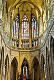 Interiore della cattedrale di vitus della st Immagine Stock