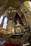 Interiore della cattedrale gotica Fotografia Stock