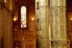 Interiore della cattedrale, Lisbona Fotografia Stock Libera da Diritti