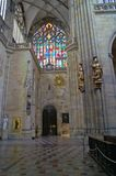 Interiore della cattedrale della st Vitus Fotografie Stock Libere da Diritti