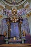 Interiore della cattedrale della st Vitus Fotografie Stock