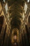 Interiore della cattedrale della st Vitus a Praga Immagini Stock Libere da Diritti