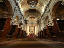 Interiore della chiesa Immagini Stock