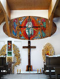 Interiore della chiesa cattolica Fotografia Stock Libera da Diritti