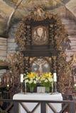 Interiore della chiesa di Lutheran Fotografie Stock