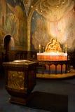 Interiore della chiesa in Norvegia Fotografia Stock Libera da Diritti