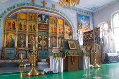 Interiore della chiesa ortodossa Immagine Stock Libera da Diritti