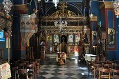 Interiore della chiesa ortodossa Fotografia Stock