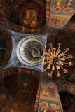 Interiore della chiesa ortodossa Fotografie Stock