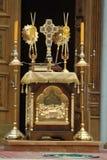 Interiore della chiesa ortodossa russa Immagine Stock