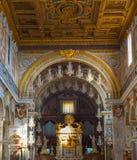 Interiore della chiesa Roma, Italia Fotografie Stock Libere da Diritti